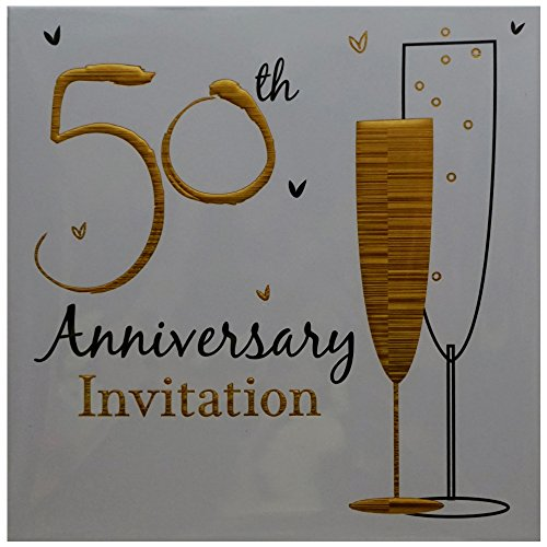 50th-Golden-Wedding-Anniversary-Party-Invitations-Holographic-36-Cards-with-Envelopes