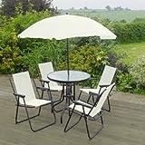 Garten Mile® 6 Stück Creme Garten Terrasse Set Outdoor Dining Set U2013 4 Sitzer
