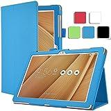 ELTD ASUS ZenPad 10 Z300C Housse, Book-style Etui Housse pour ASUS ZenPad 10 Z300C , Blue-Bleu