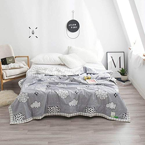 Polyester-twin-size-tröster (AIMHOME Graue Wolken dünne Sommer Quilt Klimaanlage Nähte Tröster Baumwollgewebe Polyester Twin Full Queen Size 150x200cm)