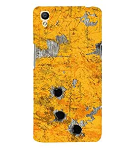 Fuson Designer Phone Back Case Cover Oppo A37 ( Scratched Of The Metal Surface )