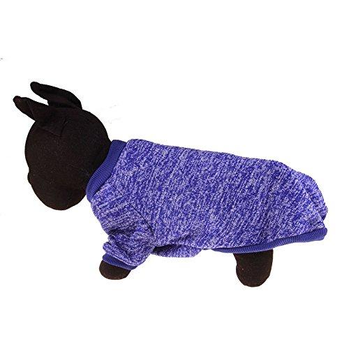 Home-deep Conditioner (Stale Einfarbig Warme Hundebekleidung Winter Weiche Baumwolle Pullover Kleidung Welpenmäntel Für Kleine Hunde Chihuahua Weihnachten Haustier Kostüm Deep Blue XS)
