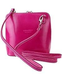 Genuine Italian Leather, Small/Mini Cross Body Bag or Shoulder Bag, Handbag, Vera Pelle