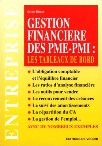 Gestion financière des PME-PMI. Les tableaux de bord