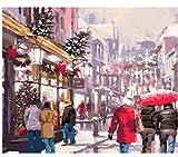 XIGZI Foto Cane di Natale Fai da Te Pittura By Numbers Regalo di Natale Home Decor for Living Room Mano Regali Unici 40X50 CM,Senza Cornice,D
