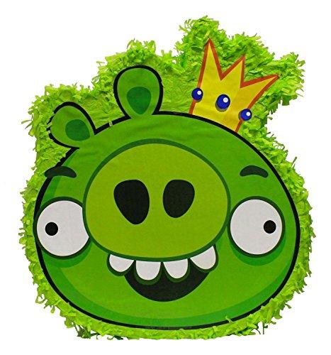 ta Angry Birds - Schwein, circa 43.5 x 50 x 8.5 cm zum Befüllen, grün (Angry Birds-pinata)