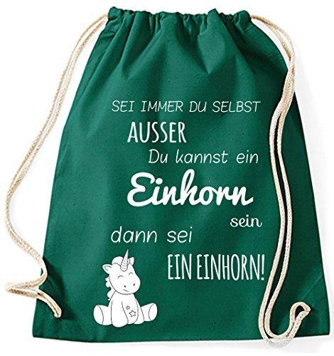 Mein Zwergenland Jutebeutel Sei immer du selbst, 12L, Fuchsia Grün