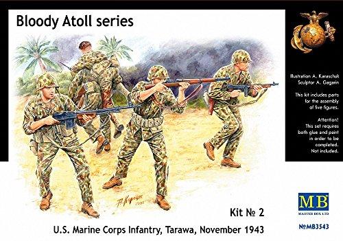 masterbox-3543-bloody-atoll-series-kit-no-2-us-marine-corps-infantry-tarawa-november-1943-135-plasti