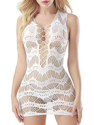 FasiCat Robe femme Mesh Mini manches Sous-vêtements pour les femmes