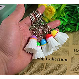 Airgoesin 20pcs Keychain Key Ring Hang Badminton Shape Cute Shop Promo Gift Charms