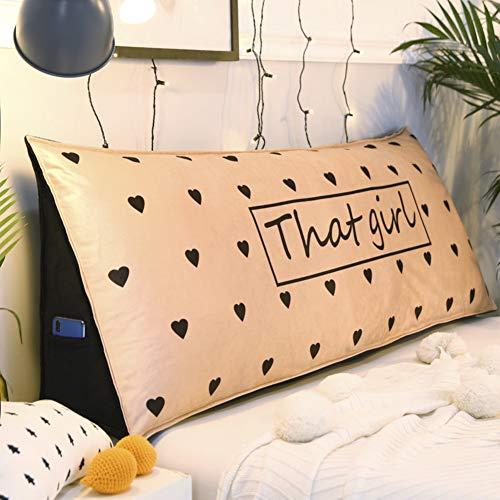PP&DD Sofa-Bett Kissen Kissen Lesen Kopfkissen Rückenlehne Für Bett,Tatami Lesung Rückenlehne Polster Dreieckiger Keil Kissen-g 120x24x45cm(47x9x18inch) - Schlafzimmer Metall-schlitten Bett