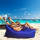 Lazy Inflatable Air Sofa Lounger Chair (Dark Blue)
