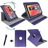 Tablet Tasche für Aldi MEDION LIFETAB P10506 MD 60036 Schutz Hülle Etui mit Standfunktion + Touch Pen + Touch Pen – lila 10.1 Zoll 360_