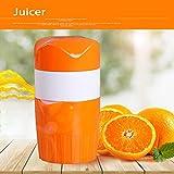 Gugutogo Estrattore di succo di frutta manuale a mano in plastica Spremi agrumi spremiagrumi Alesatori a mano Viaggio Spremiagrumi macchina piccola (Colore: arancione)