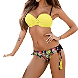 KEERADS BIKINI Damen Set Push Up Swimsuits Strand Badeanzug Badebekleidung Bademode (XL, Gelb A)