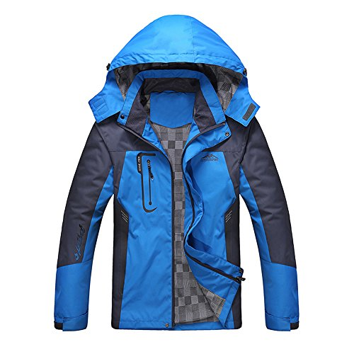Diamond Candy Giacca a Vento softshell Uomo con cappuccio da Trekking Montagna Pouring Adventure e Outdoor Sports blue