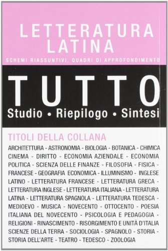 Zoom IMG-1 tutto letteratura latina