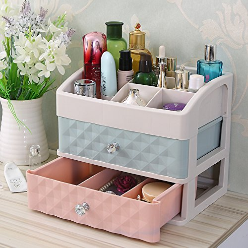 XIAOLI& Kosmetikorganiser Aufbewahrungsbox Kommode Regal Schubladenart Kunststoffe Transparent Desktop Lagerung , Crystal Handle Double Pump Color