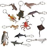 12pcs Marinos Llaveros De Animales