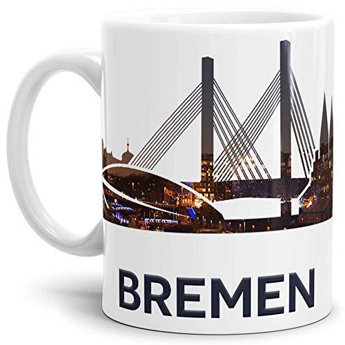 Tassendruck Bremen-Tasse Skyline - Kaffeetasse/Mug/Cup - Qualität Made in Germany