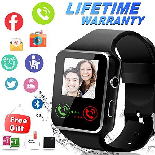 Smartwatch,Bluetooth Smart Watch Wasserdicht Smartwatch Android (Black)