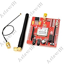 Asiawill SIM900 inalámbrico quad-cuatribanda/GPRS Shield tarjeta de expansión de control para Arduino