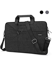 Laptop Bag 15.6 Inch, EKOOS Waterproof Nylon Sleeve Shoulder Bag Notebook Computer Briefcase for 15 - 15.6 Inch Laptop Macbook ThinkPad Dell HP Acer ASUS Toshiba Samsung Chromebook (15.6, Black)