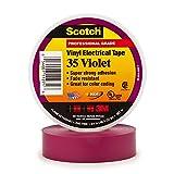 3M 80611211634 35 Scotch Ruban d'Isolation Electrique Hautes Performances, 19 mm x 20 m, Violet