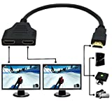 Microware HDMI Male To 2X HDMI Female Splitter Adapter Cable