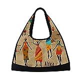 TIZORAX Vintage afrikanischen Frauen Duffle Reisetasche Sport Gym Bag Umhängetasche