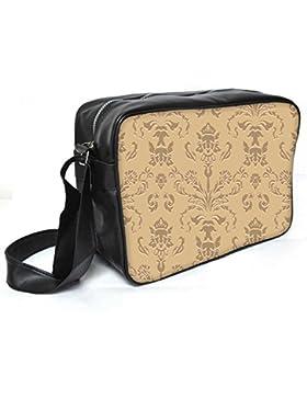 Snoogg Silber Muster Leder Unisex Messenger Bag für College Schule täglichen Gebrauch Tasche Material PU