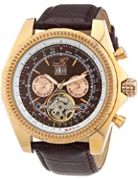 Ingraham Herren-Armbanduhr XL Pescara Analog Automatik Leder IG PESC.1.200308
