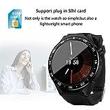 YUNDING Smart Watch, Telefono Portatile, Braccialetto Digitale Bluetooth, Sistema Operativo Android/Videocamera HD/Internet WiFi/Frequenza Cardiaca/Passo/Chiamata Scheda SIM