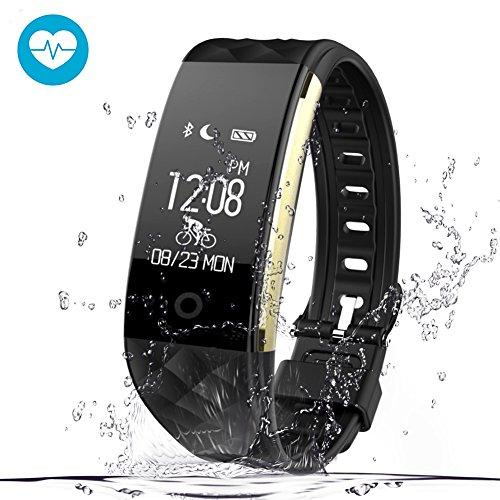 Pulsera Actividad para GPS con Kainuoa, Pulsera Inteligente Impermeable con Monitor de Cardíaco y Sueño, Notificación de Mensaje, Control de Musica y Cámara,Contador de pasos,Reloj, Pómetro Bluetooth 4.0 Compatible con IOS y Android