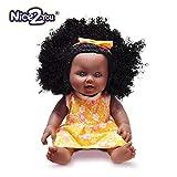 Nice2you Poupée Afro-américaine réalistes 12 Pouces bébé Reborn poupées pour Enfants Enfants Cadeau de noël
