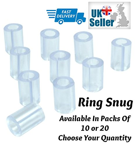 Ring Snuggies Pack Of 10 Ring Finger Snugs Adjuster KEEP LOOSE RINGS SECURE Free UK Delivery