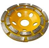 Aerzetix - Disco diamantato a levigare 110 mm 22.23 mm per smerigliatrice 115 mm cemento pietra mattone .
