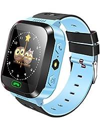 Smartwatch de GPS para niños, Hongtianyian Reloj Inteligente Anti-perdida Touch de 1.44 Pulgadas para niños niñas…