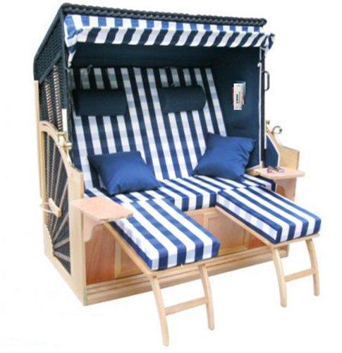 Brubaker Kaiserbad XXL 3-Sitzer Strandkorb Polyrattan 160 cm Komfortbreite