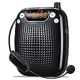 UHF amplificatore vocale (10 W) con 2600 mAh batteria al litio con il microfono wireless per insegnanti/Trainer/Guida Turistica e più Nero Schwarz/UHF-10W immagine