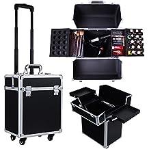 Carro de belleza genérico para el maquillaje o el peluquería, caja de cosméticos para carrito