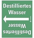 LEMAX® Rohrleitungsband Destilliertes Wasser,praxisbewährt,ab Ø 50mm,grün/weiß,33m/Rolle