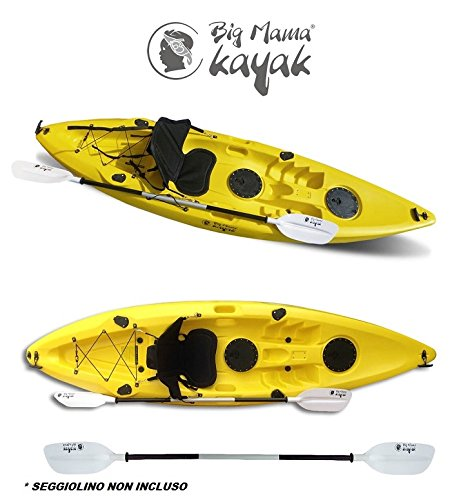 Ainoa Fishing Big Mama Kayak – Canoa de 295 cm + 2 compartimentos +