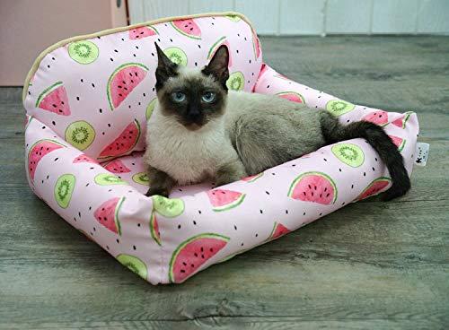 MINMINA Katzenstreu mit Frühling und Sommer Nagel Haustier Nest Bodenkissen abnehmbar und waschbar wasserdicht Katzenstreu Katzenmatte, rosa Medium -