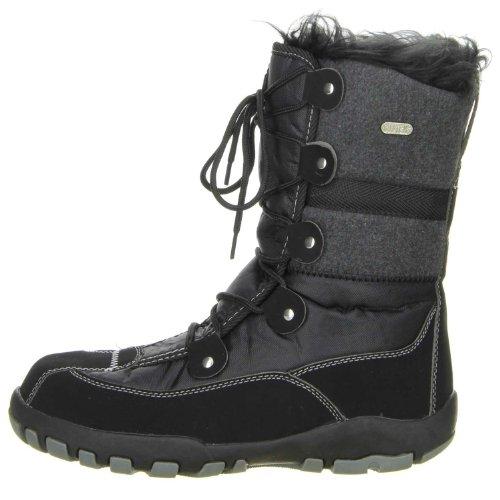 ConWay Damen Winterstiefel Snowboots schwarz Schwarz