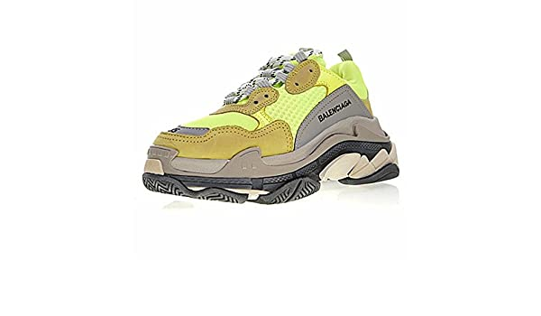 917060256b Beloved Footwear Balenciaga Triple-S Sneaker Scarpe Basket Jogging Sportive  Running Donna Uomo, Grigio/Giallo: Amazon.it: Scarpe e borse