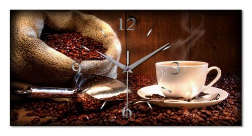 Kreative Feder WA092F Kaffee Küchen, Funk Wanduhr modernes Design