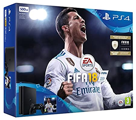 Sony PlayStation 4 500GB Bundle with FIFA 18 Ultimate Team Icons and Rare Player Pack (Slim version)