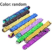 Lovelysunshiny Pulseras Coloridas de Lentejuelas Pulseras de Fiesta Pulsera de Moda muñequera para niños