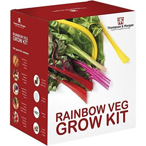 Regenbogen Gemüse Samen Wachstums Set Geschenkbox von Thompson & Morgan - 5 Lebendige Sorten von Veg to Grow ; Möhre, Rettich, Rote Bete, Mangold & Tomatensamen
